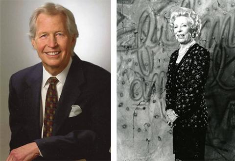 (left) Glenn Korff and (right) Mary Riepma Ross