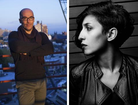 Andy Cavatorta (left) and Behnaz Farahi will present keynote lectures at the Mid-American College Art Association Conference in Lincoln Oct. 4-5.