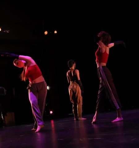 Student dancers perform as part of the Student Dance Project in the fall of 2020.