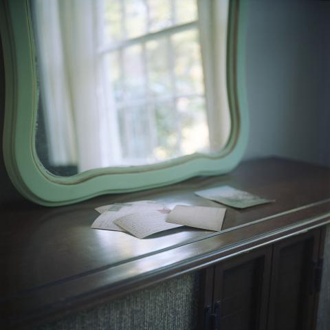 "Melissa Fennell, University of South Carolina, ""Correspondence,"" archival pigment print, 8"" x 8"", 2014."