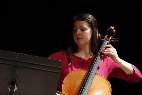 Glenn Korff School of Music student Jocelyn Meyer performs as part of the 2019 An Evening of Cello.
