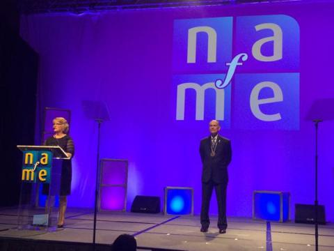 Glenn Nierman's induction as a Lowell Mason Fellow by the National Association for Music Education. Photo by Sam Zitek.