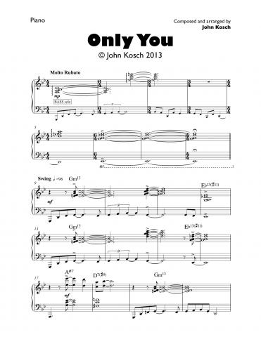 ONLY YOU, by John Kosch