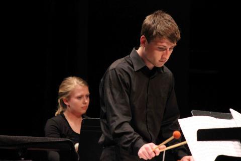 UNL Percussion Ensemble performs
