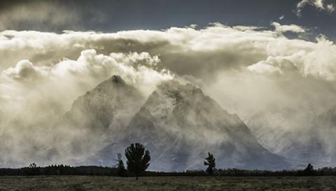 "Phil Perry, ""Shrouded Tetons,"" archival pigment print, 2014."