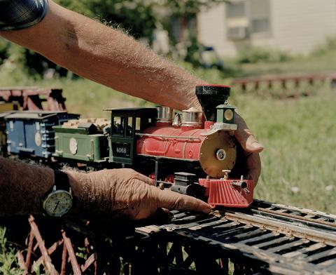 "Terry Ratzlaff, ""Dwayne Sam and The Romanticization of The Last Coal Train through Crawford,"" archival inkjet print, 40"" x 49"" x 2"" (framed), 2020."