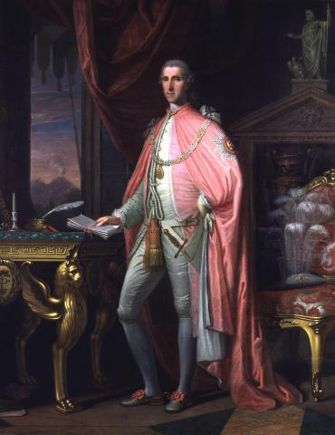 Portrait of Sir William Hamilton by David Allen, 1775.