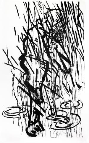 Aleksander Wozniak, woodcut, 2017.