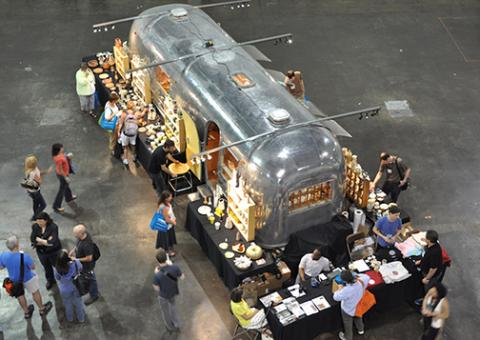 ArtStream Nomadic Gallery, the mobile pottery gallery, will be at the Department of Art and Art History March 7-8.