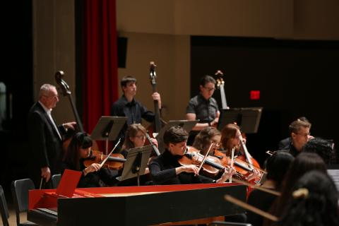 Campus Orchestra from a previous pre-covid 19 performance