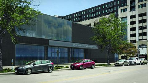 A conceptual rendering of the Johnny Carson Center for Emerging Media Arts building at 1300 Q St. Courtesy of HDR, Inc.
