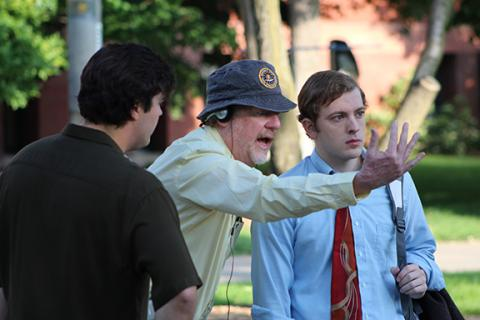 "Director Donald Petrie (center) directed ""Digs,"" the Carson Film released in 2013. The Carson School is holding a film script compeition to search for the next script to begin filming in 2018. Photo by Bridget Vacha."