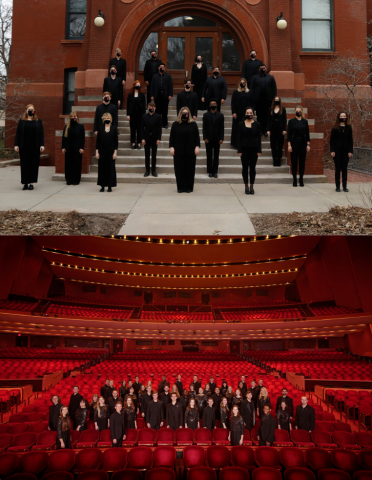Chamber Singers (top) and University Singers