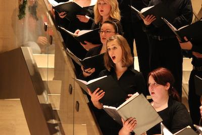 Chamber Singers performing