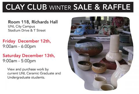 UNL Winter Clay Club Sale is Dec. 12-13