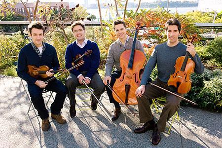 Photo of the Escher String Quartet members