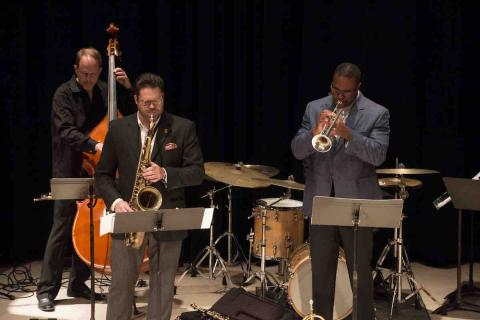 UNL Faculty Jazz Ensemble performing on Westbrook Stage
