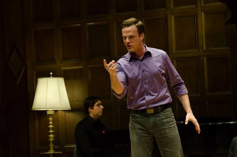 Adam Fieldson performs during the Lotte Lenya Competition on April 18, 2015, in Kilbourn Hall of the Eastman School of Music in Rochester, N.Y.
