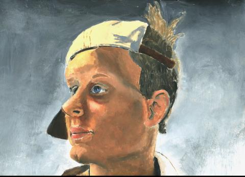 "T.J. Foster, Creighton Prep, ""Looking to the Future."" Foster's work is among the work featured in the ""Nebraska Young Artist Awards/Statewide High School Invitational"" exhibition on display March 10-24."