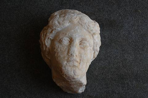 A life-size head of the goddess Aphrodite is the first example of a monumental statue found at a southern Turkey archeological site exploring the ancient city of Antiochia ad Cragnum.
