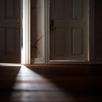 """Nicole Hupp, """"Doors,"""" from the series Within, pigment ink-jet print, 2012. Hupp is a senior Bachelor of Fine Arts in studio art major at UNL from Oakdale, Neb."""
