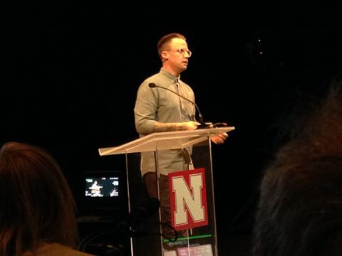 Jeff Nicholas, the Director of VR Creative+Production at Live Nation, presents at the Carson Conversations Forum on May 20.