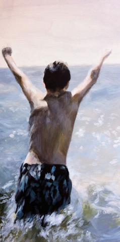 """Anna Koenig, """"Brother,"""" acrylic on canvas, 2013."""