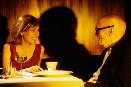 Hilary Lewis with Philip Johnson in 2002. Photo by Richard Leslie Schulman