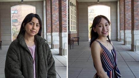 Left: Lizbeth Daniela Chavez. Right: Thao Duong.