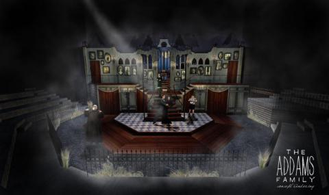 "Madsen's design for ""The Addams Family."""