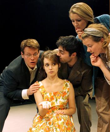 (L-R) Billy Jones, Jessie Tidball, David Michael Fox, Lucy Myrtue and Jenny Holm star in Theatrix's Melancholy Play, which will be performed at the Region V KCACTF in January.