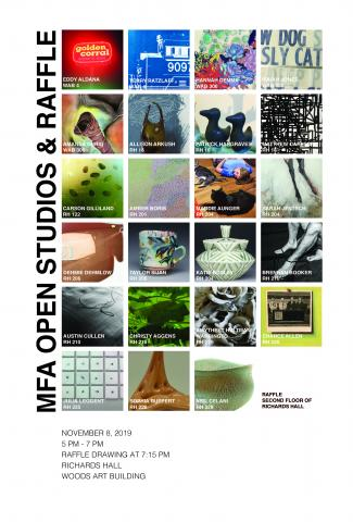 MFA Open Studios will take place on Nov. 8th from 5-7 p.m.