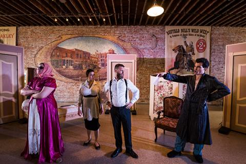 "Rehearsal for ""The Marriage of Figaro"" at the Warren Opera House in Friend, Nebraska. Photo by Justin Mohling."