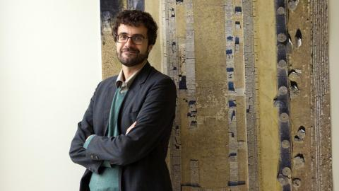 Nebraska's Philip Sapirstein is an NEH-Mellon Fellowship for Digital Publication. He will use the award to design an interactive virtual museum of the temple of Hera at Olympia, a monument critical to understanding early Greek architecture. Photo by Craig Chandler, University Communications.