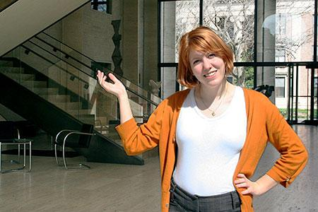 Anne Rimmington serves as a docent in the Sheldon Museum of Art
