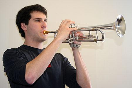 Photo of Frank Stroup playing trumpet