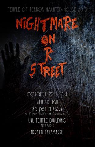 Nebraska Masquers presents Temple of Terror Oct. 29-31.