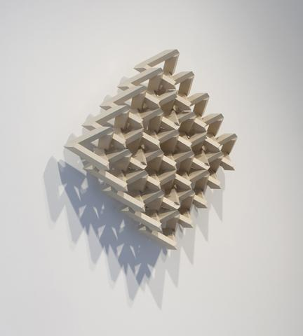 """Ronald Watson, """"5 Squared:  Area 25,"""" poplar and alkyd, 29"""" x 29"""" x 7.35"""", 2012."""