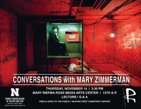 Mary Zimmerman joins us for a presentation and Q&A about her work on Nov. 14 at 3:30 p.m. at the Mary Riepma Ross Media Arts Center.