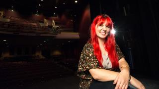 Portrait of Amy in the Johnny Carson Theatre
