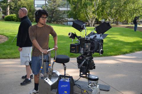 Benito Sanchez working on the Nebraska Film