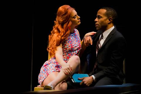 "Ron Himes, producing director of the St. Louis Black Repertory Company, directed the play ""Dutchman"" — featuring Emily Raine Blythe and Eugene H. Russell IV (pictured) — at the Nebraska Repertory Theatre in February 2019. Himes will serve as consultant for the new two-year collaboration between Nebraska Rep and The Black Rep. Photo by Sabrina Sommer."