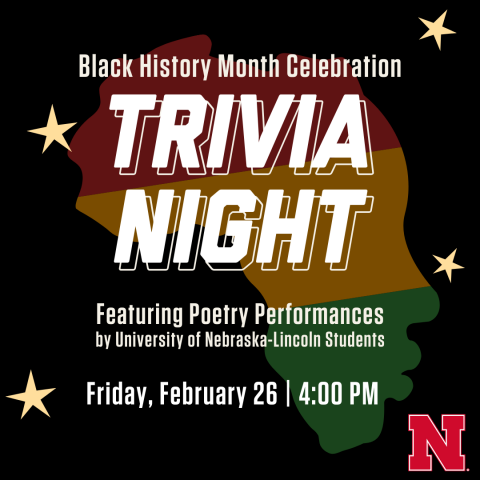 The Hixson-Lied College of Fine and Performing Arts is among the sponsors for Black History Month Celebration: Trivia Night on Feb. 26.