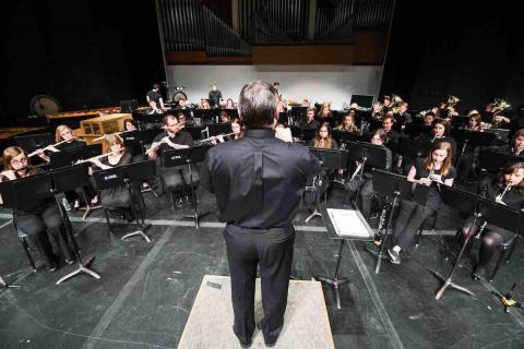 UNL Symphonic Band on Kimball Stage