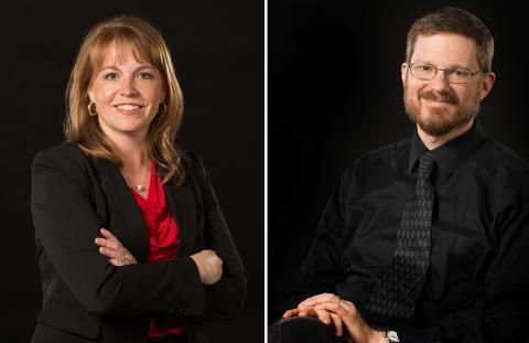 Jacqueline Mattingly (left) and Christopher Marks