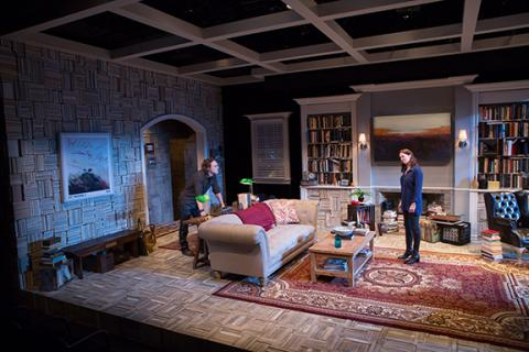 """The set for """"Sex with Strangers"""" at the Signature Theatre in Washington, D.C., designed by J.D. Madsen"""