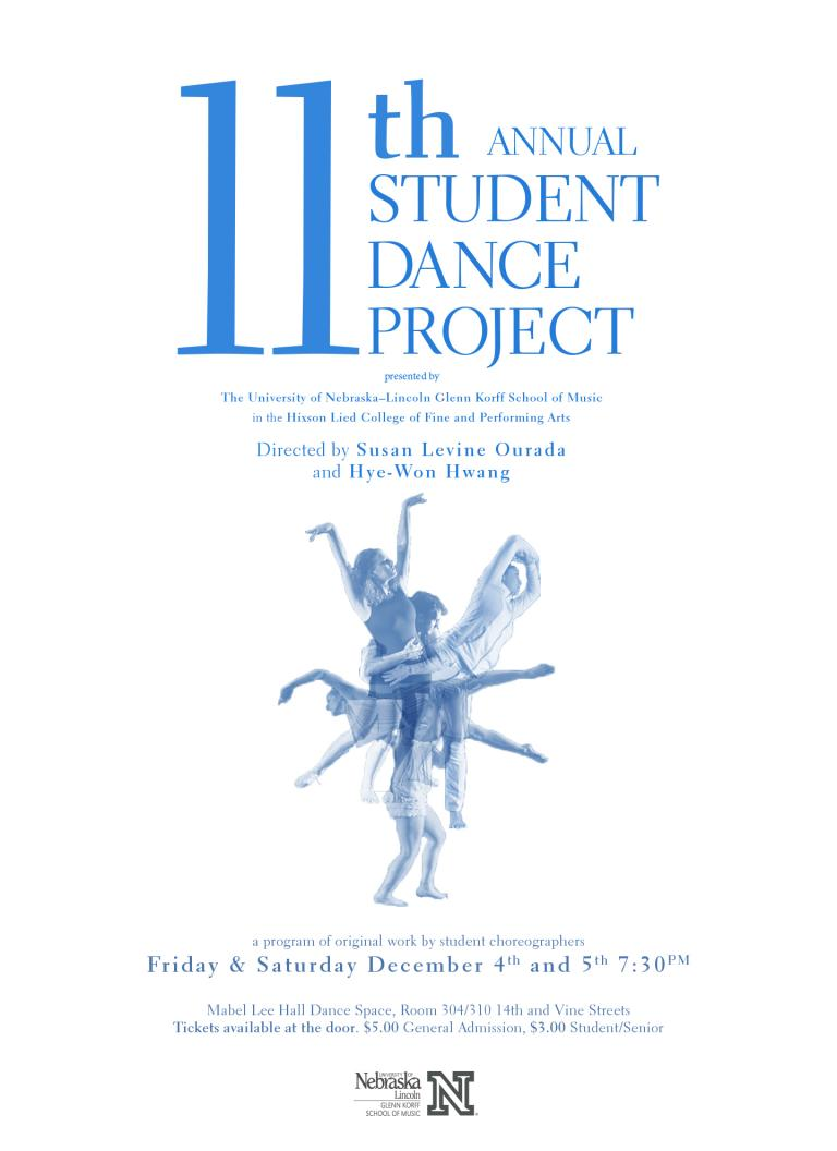 Student Dance Project Fall 2015 poster