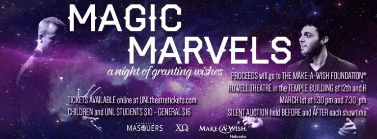 Magic Marvels opens on March 1, 2014, with shows running at 1:30pm and 7:30pm.