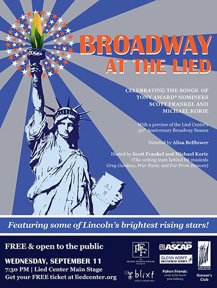 """The Lied Center for Performing Arts presents """"Broadway at the Lied"""" on Sept. 11."""