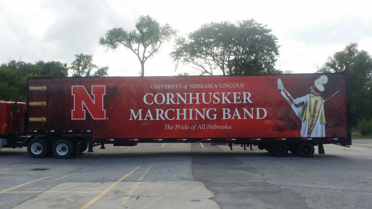 It S A Wrap On A New Cornhusker Marching Band Trailer